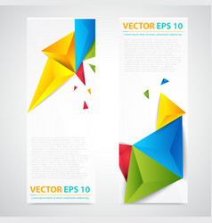 Flyer template header design vector image vector image