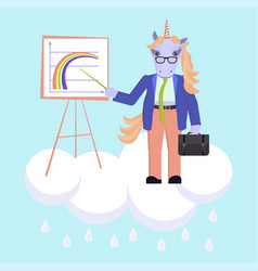 funny business animal character vector image