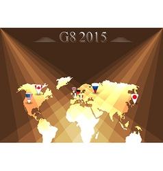 G8 summit infographic vector