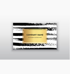 gold business card templates with brush vector image