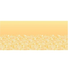Golden sparkles horizontal seamless pattern vector image