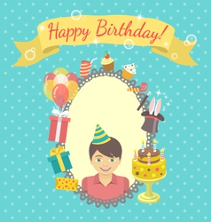 Happy Birthday Card for Boy vector image