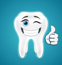 Happy protected human teeth vector