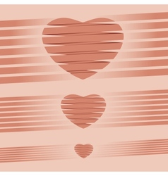 Heart origami pink Background vector image vector image