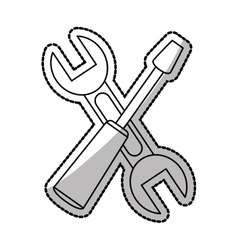 Isolated wrench and screwdriver design vector image vector image