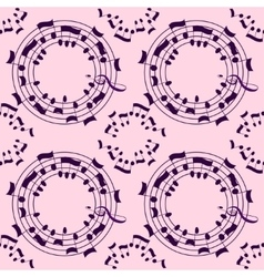 Music seamless pattern background vector