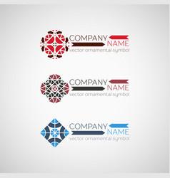 ornamental symbol vector image vector image