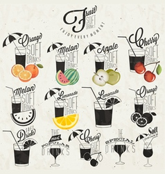 Retro vintage style soft drinks design vector