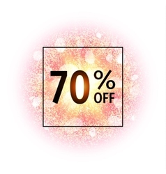 Sale banner 70 percents off abstract explosion vector
