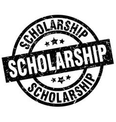 Scholarship round grunge black stamp vector
