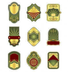 set of vintage golden labels vector image vector image
