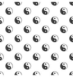Sign yin yang pattern cartoon style vector