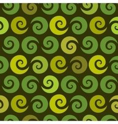 Swirl green seamless pattern vector