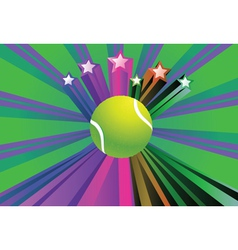 Tennis Ball Background2 vector image vector image