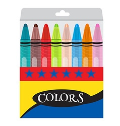 Twistable crayons vector
