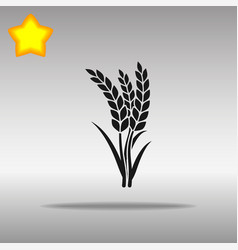 Wheat black icon button logo symbol vector
