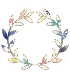 Wreath vintage vector image