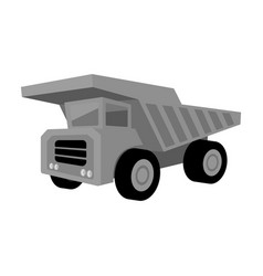 yellow dump truck with black wheelsthe vehicle vector image