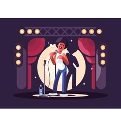 Standup show character design vector image