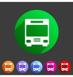 Bus icon flat web sign symbol logo label vector image