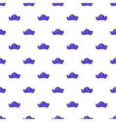 Pirate hat pattern cartoon style vector