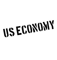 Us economy rubber stamp vector