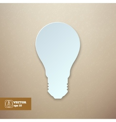 Paper light bulb isolated vector