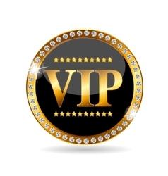VIP Members Label vector image