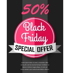 Black friday sale flayer vector