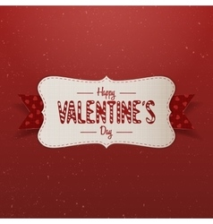 Big white valentines day banner with text vector