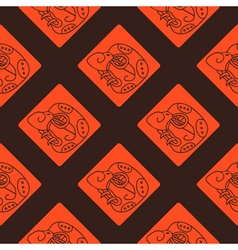 Seamless pattern with maya hieroglyphs vector