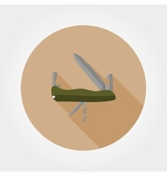 Army knife icon vector
