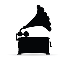 Gramophone black vector