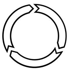 Rotation circle thin line icon vector