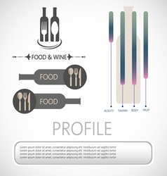 Wine info graphic vector