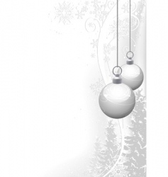 White christmas and winter floral vector