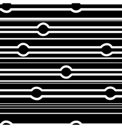Striped and circle black seamless pattern vector