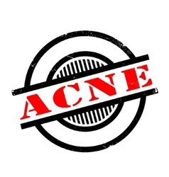 Acne rubber stamp vector
