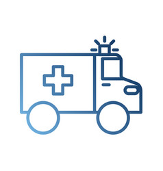 Ambulance vehicle transport urgency help accident vector