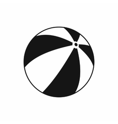 Beach ball icon simple style vector image