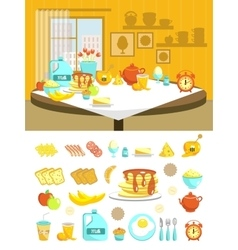 Breakfast Flat Composition Set vector image vector image