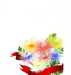 chrysanthemum bouquet vector image vector image