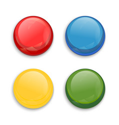 colored glossy button vector image vector image