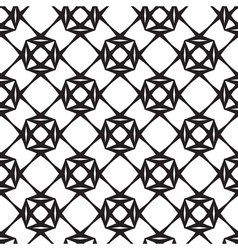 Diamonds Black and White Seamless Pattern vector image vector image