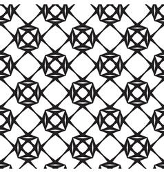 Diamonds black and white seamless pattern vector