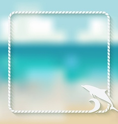 dolphin marine background vector image vector image