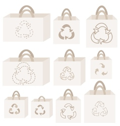 Eco recycle bag collection vector image