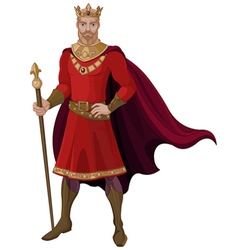 Fantasy king in red vector
