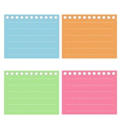 Four Color of Lined Spiral Notepad Papers vector image vector image
