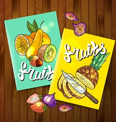 fruits top view vector image